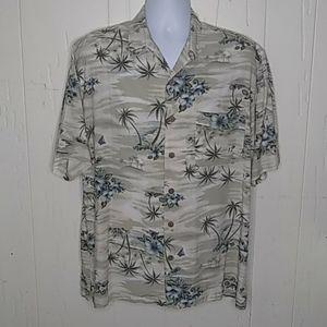 Tommy Bahama Men's Hawaiian Tropical Gray Green Sh
